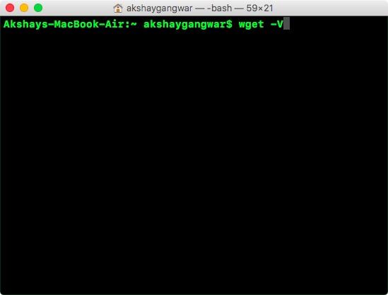 check wget install
