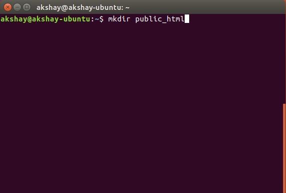 hacer una carpeta html pública dentro del directorio de inicio