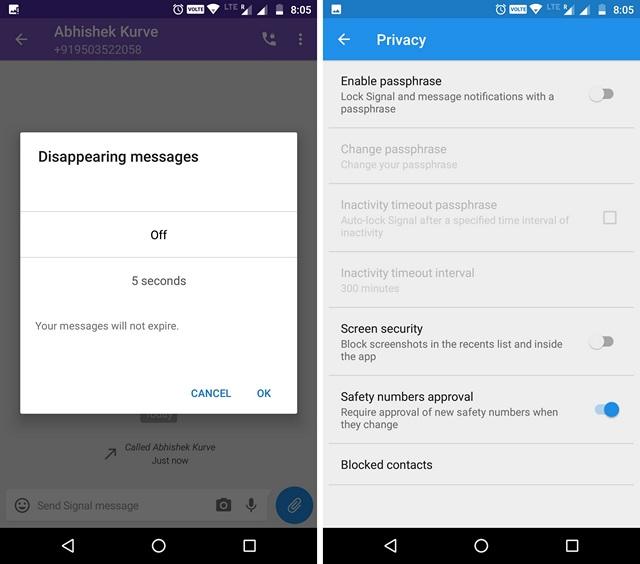 Signal WhatsApp Alternative App