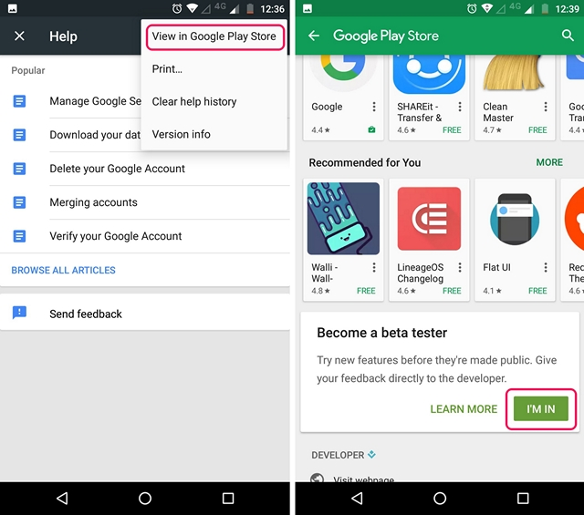 Google Play Services Play Store