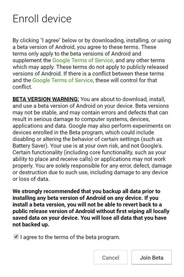 Join Android O Beta