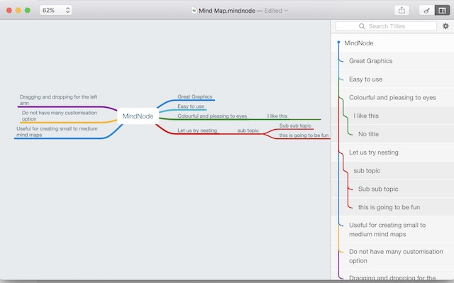 the nodes are foldable hence allowing to create a large mind mapping tree without being overwhelmed by the data for me it provides the best value for - Osx Mind Mapping