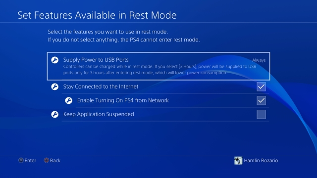 Rest Mode Features