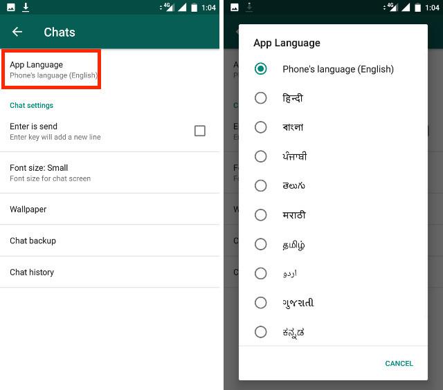 app language