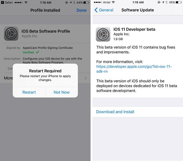 restart ios 6 download
