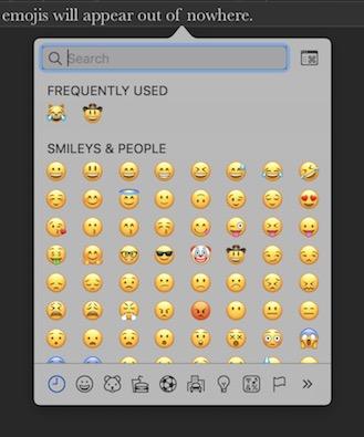 how to get emojis on mac word