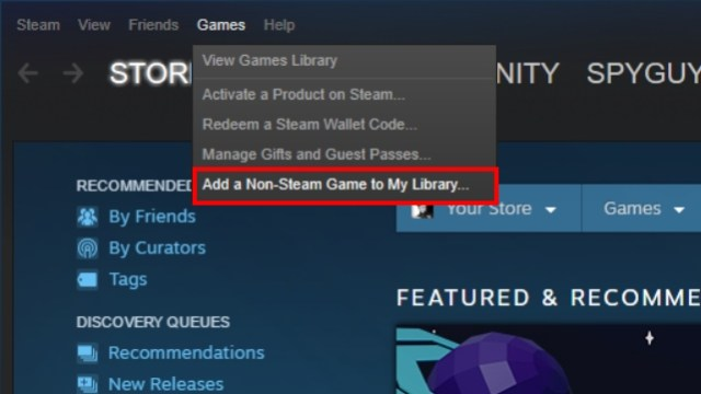 Add non-steam