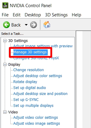 how to get all nvidia control panel options on laptop