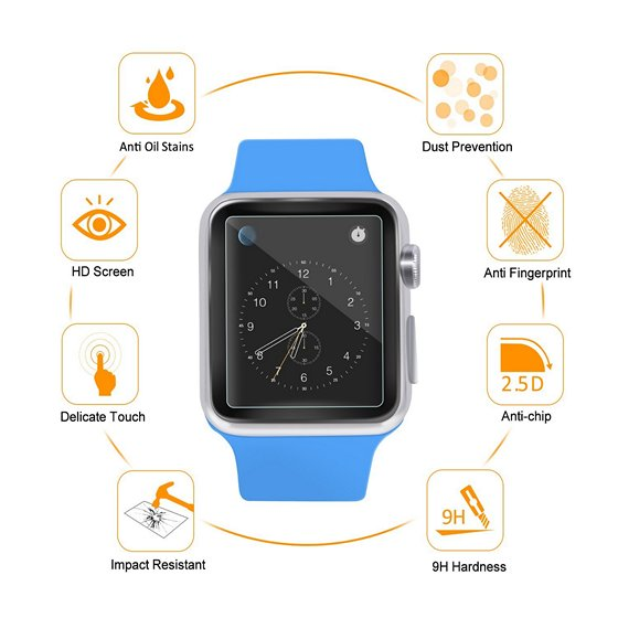 Atill Tempered Glass Screen Protector For Apple Watch