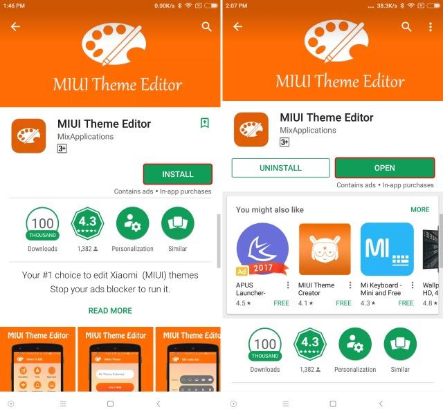 MIUI Theme Editor Install