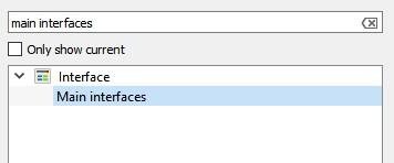 Main Interfaces