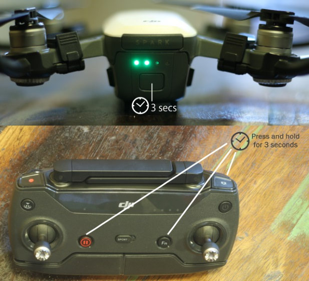 how to connect to dji spark remote with no wifi