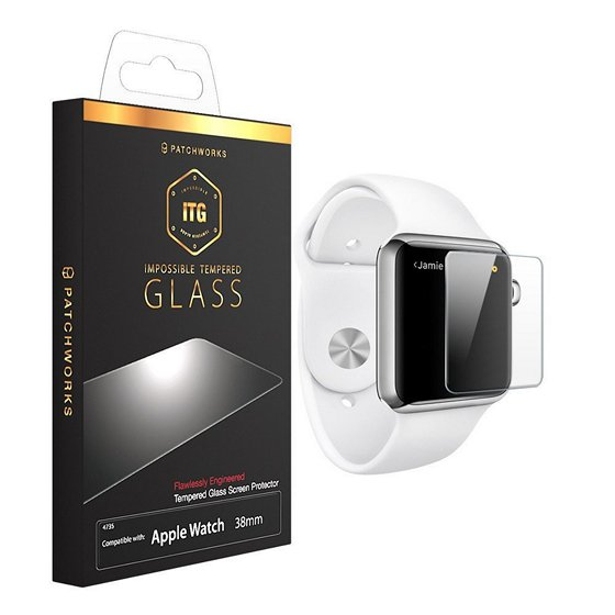 Patchworks ITG Plus Apple Watch Tempered Glass Screen Protector