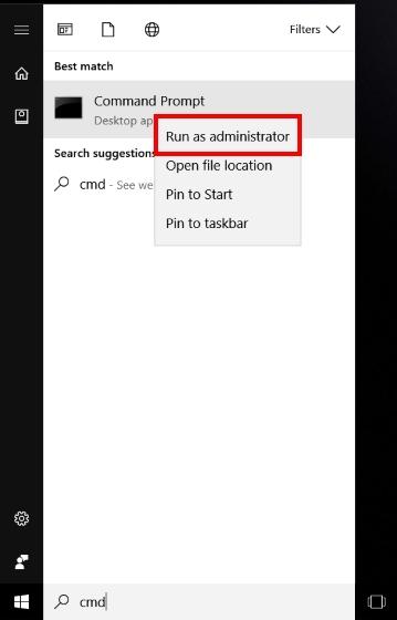 Run CMD as Admin