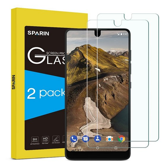 SPARIN Tempered Glass Screen Protector For Essential Phone