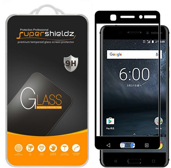 Supershieldz Tempered Glass Screen Protector for Nokia 6