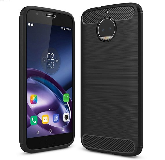 Wellic Carbon Fiber Case For Moto G5S Plus