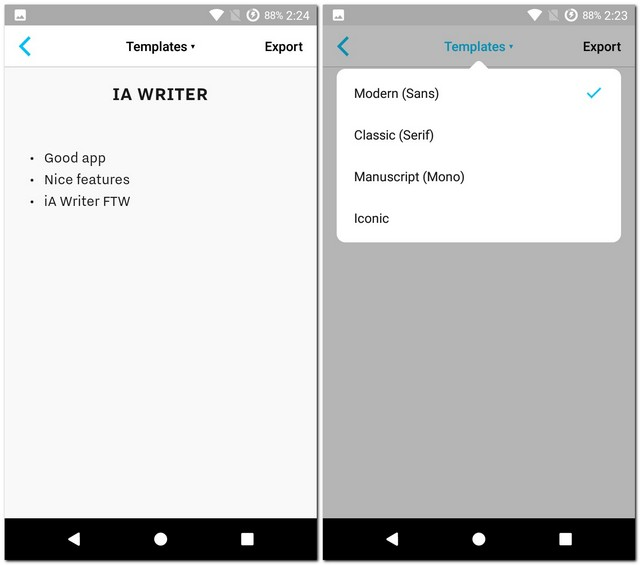 iA Writer Templates
