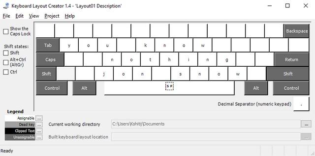 Creador de diseño de teclado de Microsoft