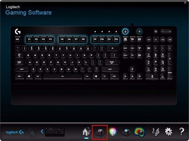 Tastaturbereich