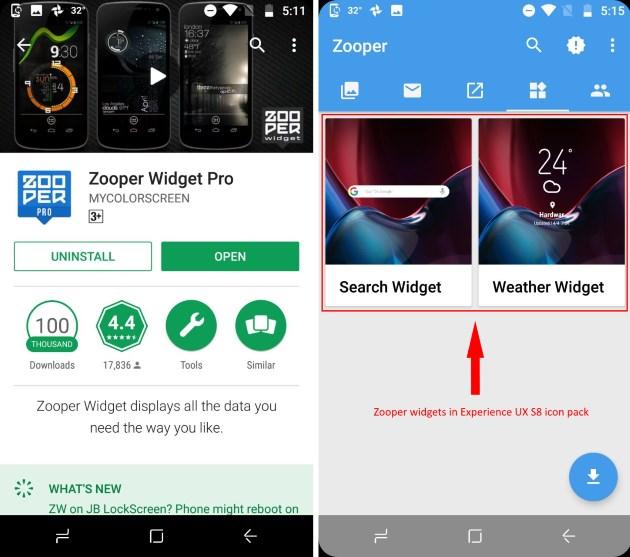 zooper widgets