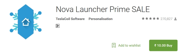 Nova Launcher Prime Sale