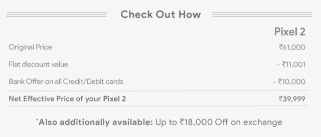 Pixel 2 offers
