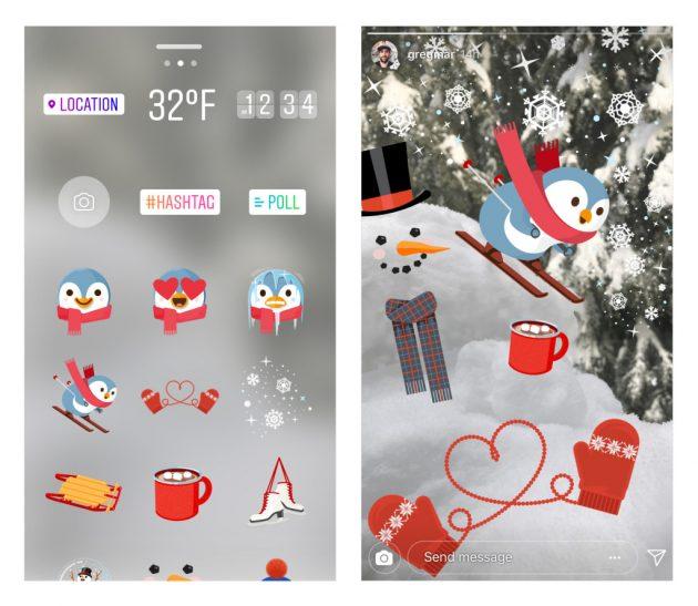 instagram stickers winter