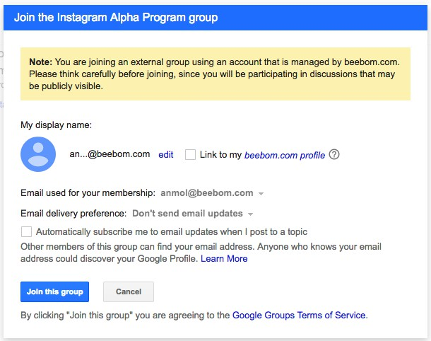 join instagram alpha