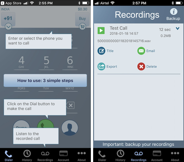 2. Call Recorder - Int Call