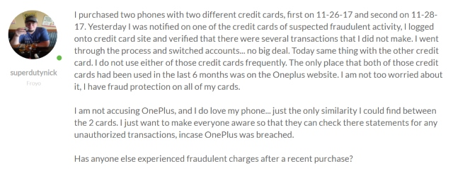 OnePlus Breached Forum Post