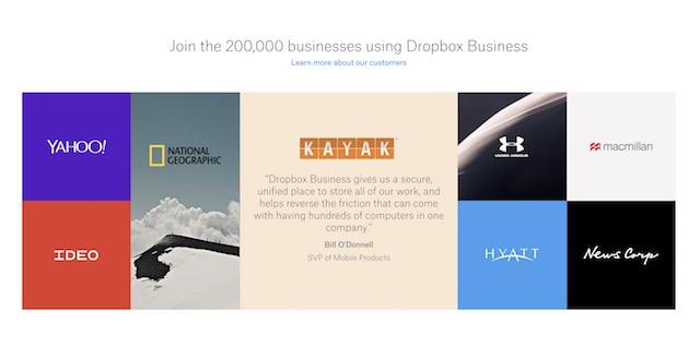 dropbox businesses