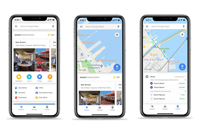 Google Maps iOS Commuting Info