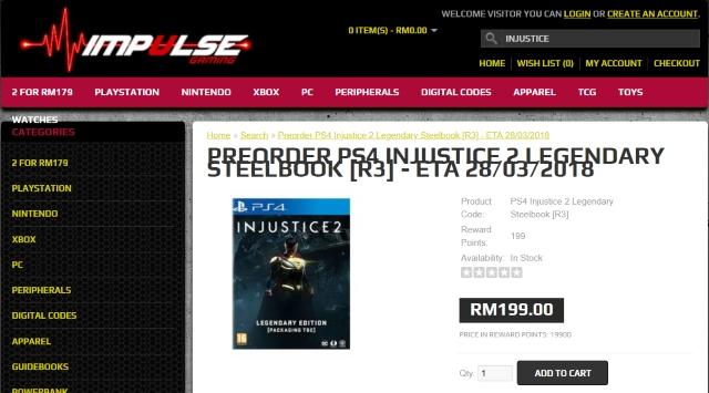 Impulse Injustice 2 Legendary Edition