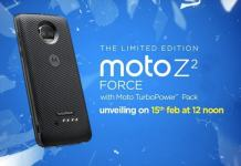 Moto Z2 Force with ShatterShield Display to Launch in India on February 15