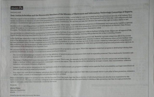 Mozilla Open Letter