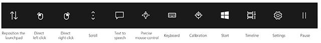 Windows 10 Eye control launchpad