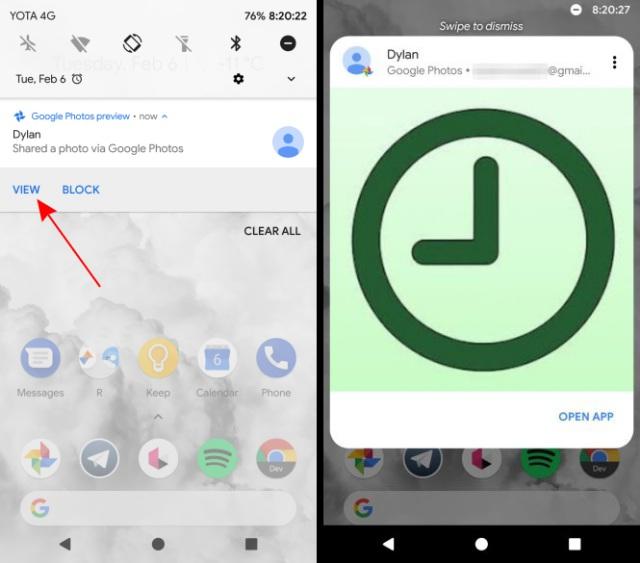 google photos app preview