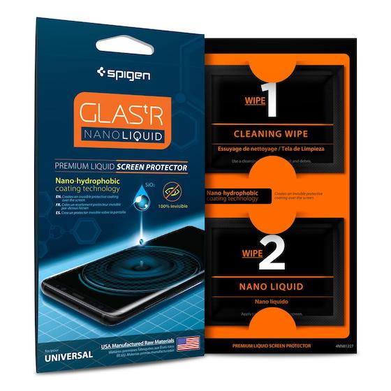 2. 2. Spigen Galaxy S9 Glas.tR Nano Liquid Screen Protector