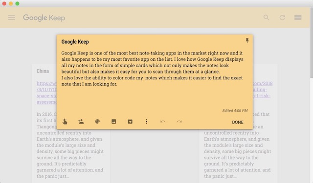 3. Google Keep