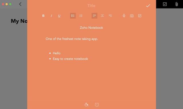 8. Zoho Notebook