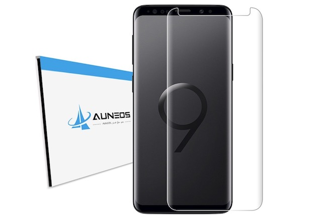 9. AUNEOS Galaxy S9 Plus Tempered Glass Screen Protector