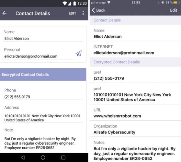 protonmail example encrypted contacts