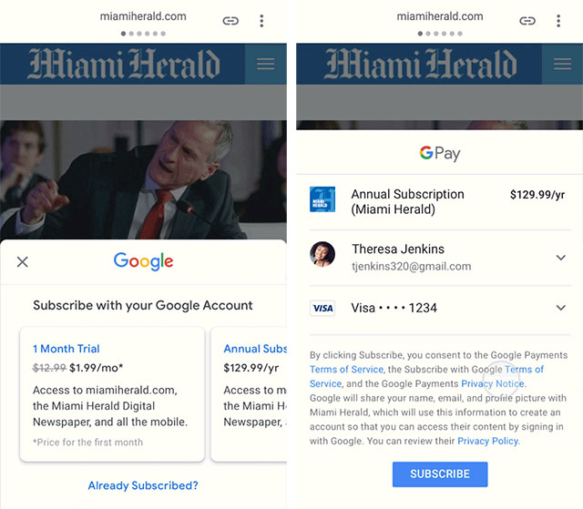 'Subscribe With Google' Gives You Seamless Access to Paywalled Publications