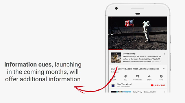 YouTube Will Add Wikipedia Links Under Videos to Fight Conspiracy Theories