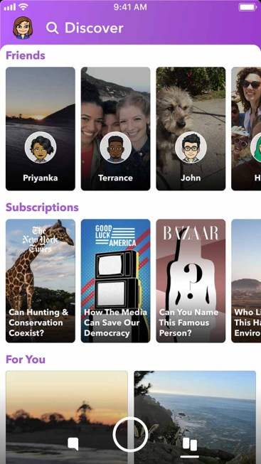 Snapchat redesign redesign