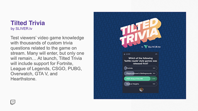 Twitch Extensions Tilted Trivia