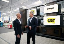 amazon best buy partnership fire tv smart tvs