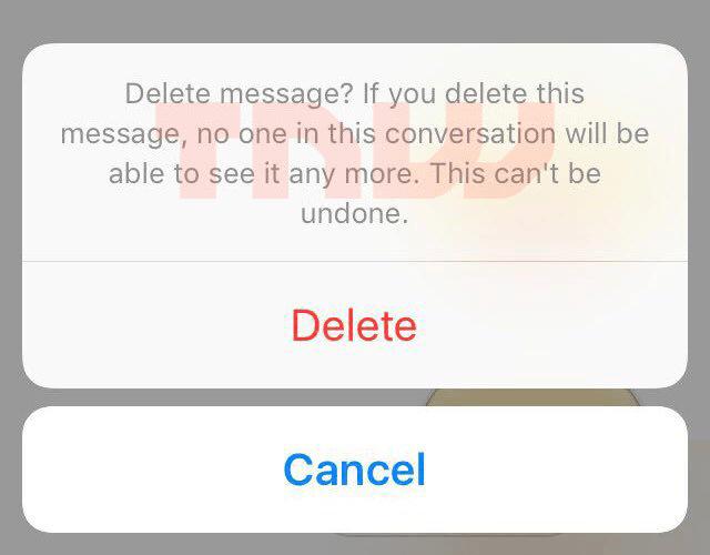 facebook messenger delete message