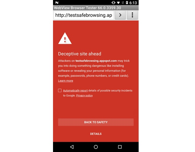Google Extends Safe Browsing Protocols To Apps Using Androids - Android app privacy policy template